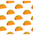 tacos seamless pattern mexicano food vector image