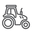 tractor line icon farming and agriculture vector image vector image