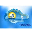 Tropical beach landscape vector image