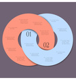 Two circles trendy design template for vector image vector image