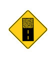 usa traffic road signspavement ends ahead vector image