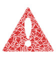 warning collage of triangles vector image
