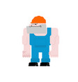 worker in helmet and blue overall man at work vector image