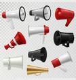 megaphone realistic 3d high volume speaker device vector image