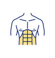 abdominal muscles rgb color icon