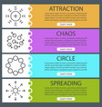 abstract symbols web banner templates set vector image