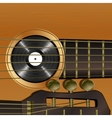 acoustic guitar close-up vector image
