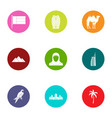 ardent icons set flat style vector image