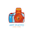 art photo camera icon isolated vector image