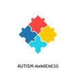 autism awareness day banner design element vector image vector image