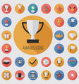 award flat digital icon set vector image