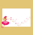beautiful flying fairy character elf princess vector image vector image