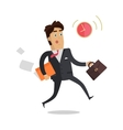 Being Late to Meetings Flat Style Concept vector image vector image