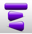 button purple for web vector image vector image