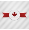 Canada Day greeting realistic Tag vector image vector image