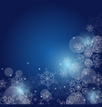 christmas background with snowflakes and space vector image