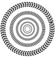 circle tire track background vector image vector image