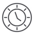 clock line icon watch and hour time sign vector image vector image
