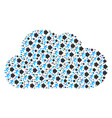 cloud mosaic of exit direction icons vector image