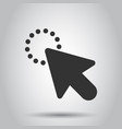 Computer mouse cursor icon in flat style arrow