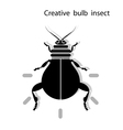 Creative light bulb insect vector image vector image