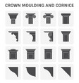 crown moulding cornice vector image vector image