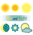 Day and night icon vector image
