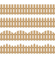 different seamless wooden fence vector image vector image