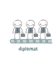 diplomats are on the line vector image