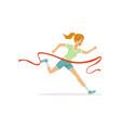 female athlete taking part in running marathon vector image vector image