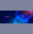 futuristic technology style banner with particle vector image vector image