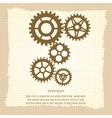 Gears icons combination on vintage background vector image vector image