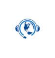 global communication logo template vector image vector image