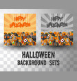 halloween flat banner template background sets vector image vector image