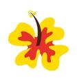 hawaiian flower natural icon vector image