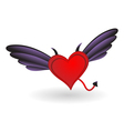 Heart with Horns and Wings vector image