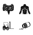 internal organs human back and other web icon in vector image vector image
