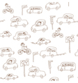 Kids and cars seamless pattern vector image vector image