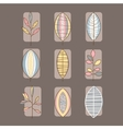 Leaf Icon Set in Linear Style vector image vector image