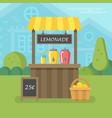 lemonade stand flat vector image vector image