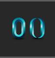 letter o logo monogram or zero 3d symbol vector image vector image