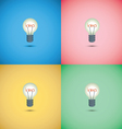Light bulb idea on colorful background vector image vector image
