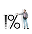 man and investment profit vector image vector image