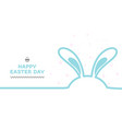 minimal line happy easter day vector image vector image