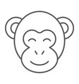 monkey thin line icon zoo and africa animal sign vector image vector image