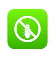 no termite sign icon digital green vector image vector image