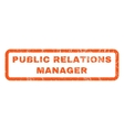 Public Relations Manager Rubber Stamp vector image vector image
