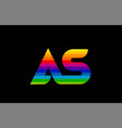 rainbow color colored colorful alphabet letter as vector image vector image