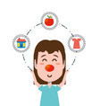 red nose day design vector image vector image