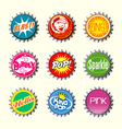 retro bottle cap designs 1 vector image vector image